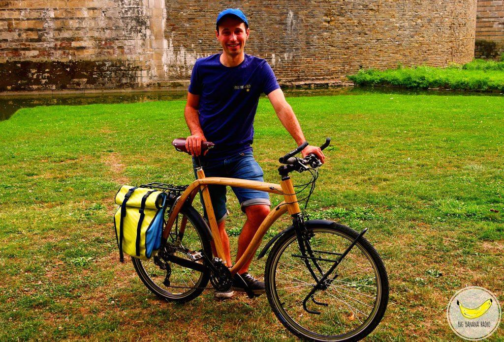 Bamboo bike travel world Tony morvant