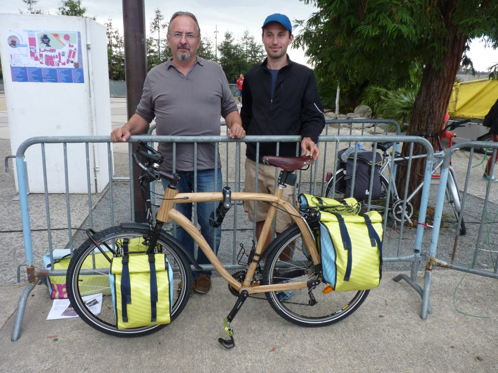 Bamboo bike travel world Tony morvant