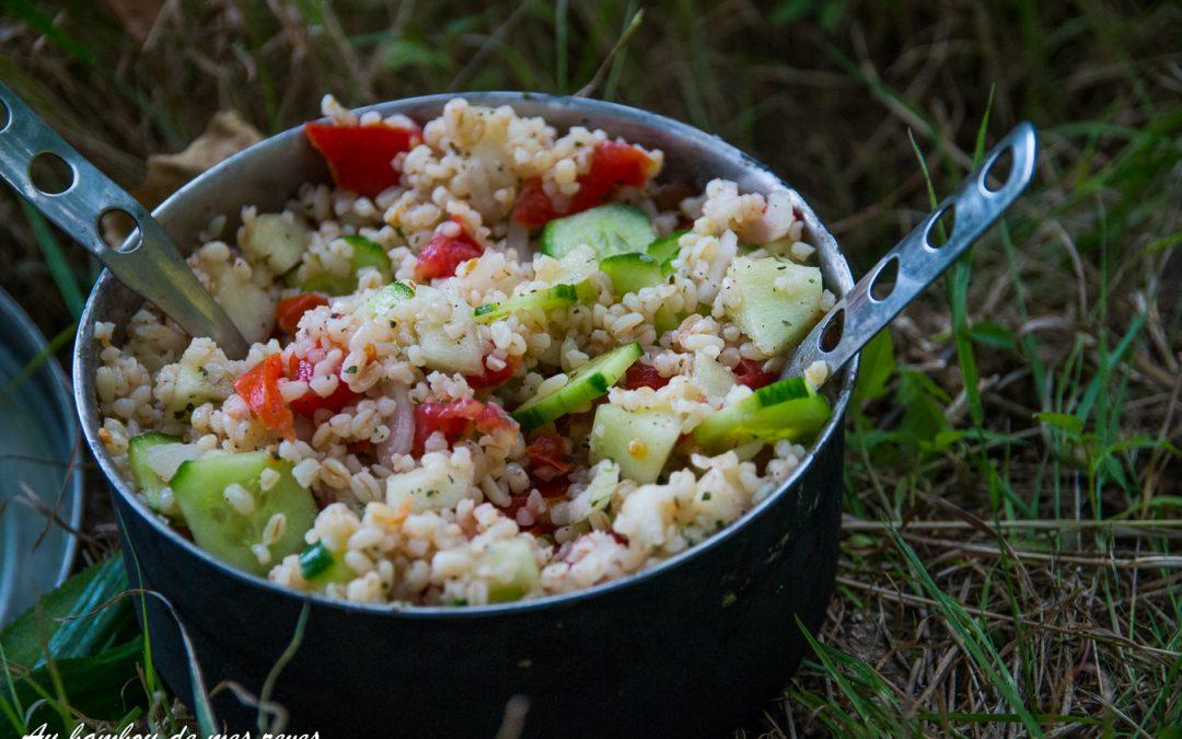 Salade de blé et ses petits légumes !!